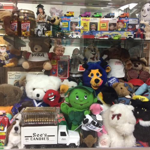 Vintage toys and stuffed dolls at Collectors' Corner Museum