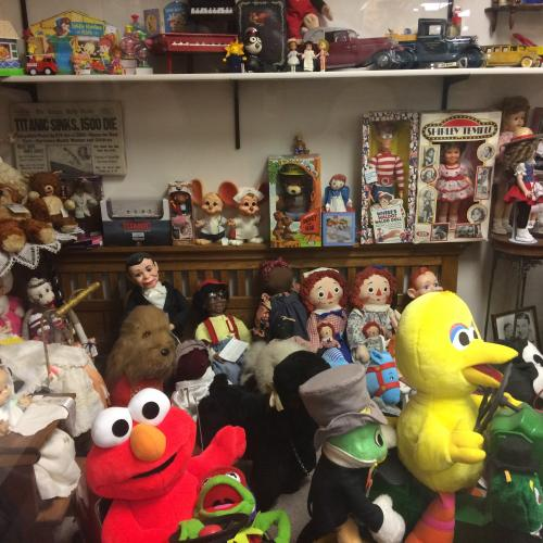 Vintage stuffed toys at Collectors' Corner Museum
