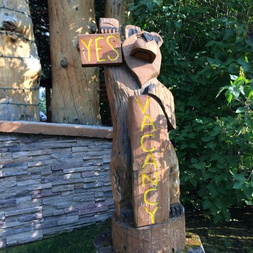 Cowboy Village vacancy sign