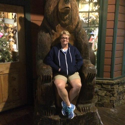Bear carving chair downtown Jackson Hole