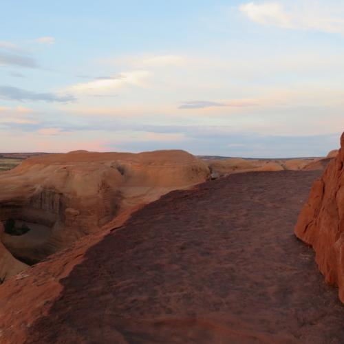 Delicate Arch Trail - top around the bend